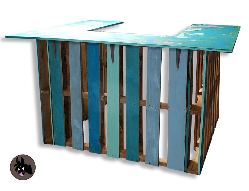 Diy Pallet Tiki Bar Brown Donkey Designs Blog